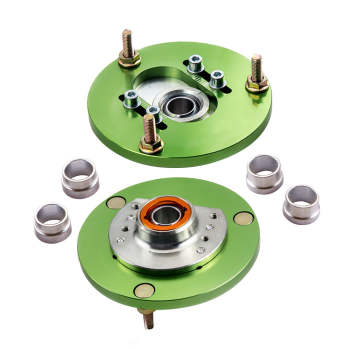 For BMW E46 320 323 325 328 M3 Pair Front Coilover Camber Plate Top Mount Green