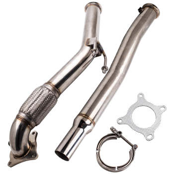 Stainless Steel Downpipe 3 Turbo For 2006-2010 Gti Jetta Audi A3 2.0L 2.0T