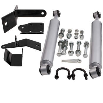 Dual Steering Stabilizer for Dodge Ram 2500 2003-2013 RAM 3500 2003-2012 4WD