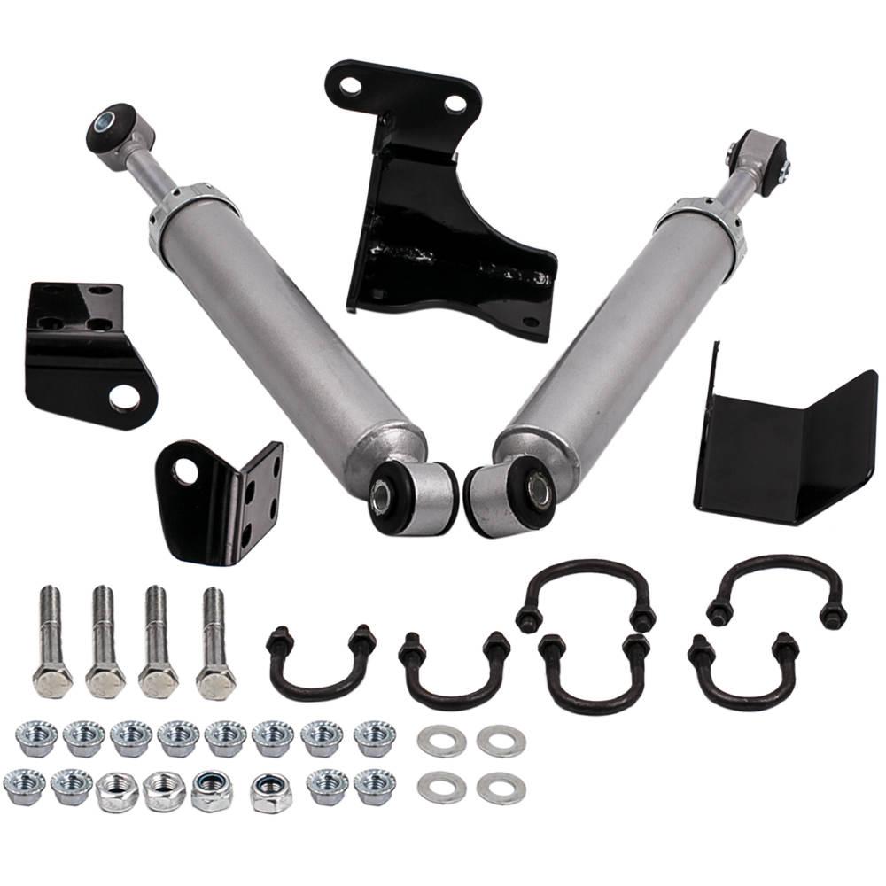 For Jeep Wrangler JK Dual Steering Stabilizer Damper Kit 2007-2017