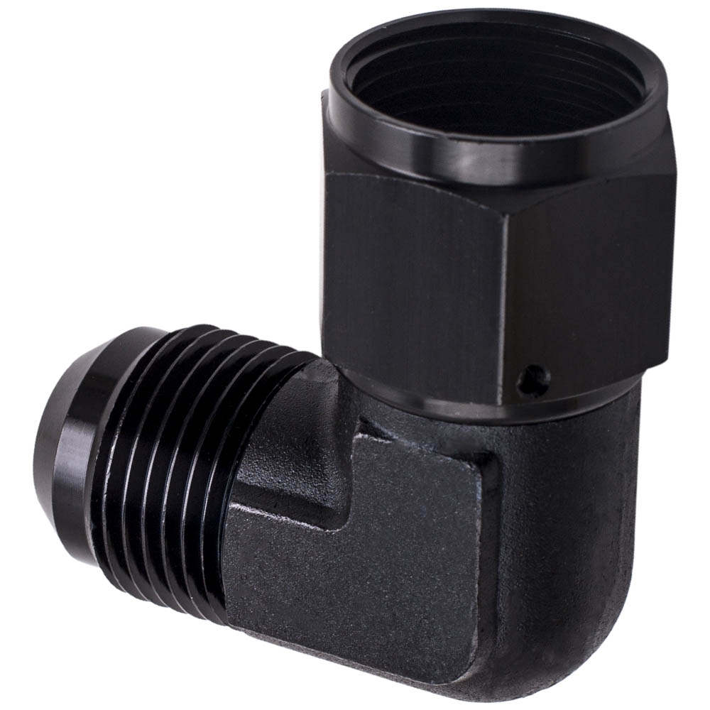 12AN AN12 To AN-12 12AN 90 Degree Fuel Fitting Adapter Black