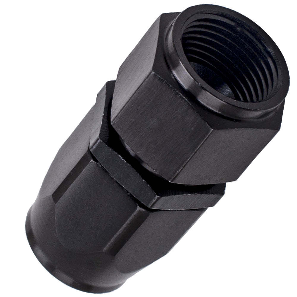 AN8 Oil Fuel Hose End Fitting Adapter Straight 0 Degree Black Quality