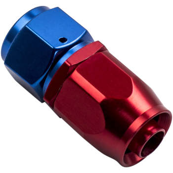 New AN8 Oil Fuel Hose End Fitting Adapter Straight Red and Blue