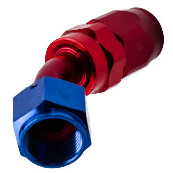 Red AN-8 8AN AN8 45 Degree Fuel Swivel Fitting Hose End Oil Fuel Adaptor Sales