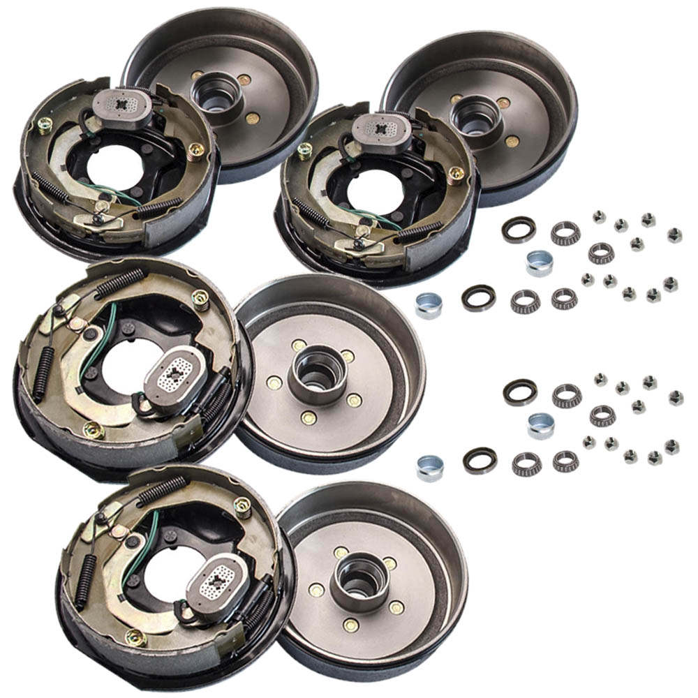 4 Trailer 10 x 2 1/4 Electric Brake 5 on 4.5 Hub Drums Bearing Kit For 3500 lbs