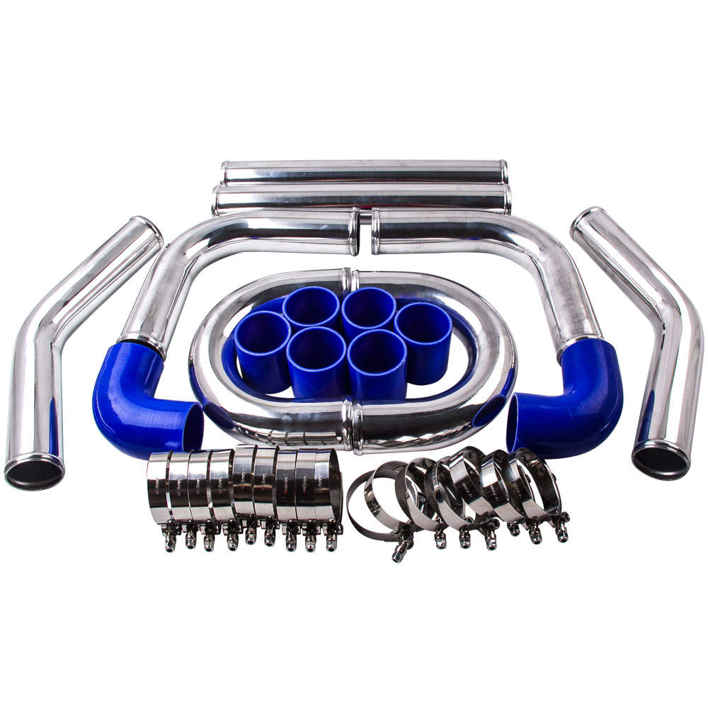 For High Performance 2.5 64mm Aluminum Universal Intercooler Turbo Piping pipe New