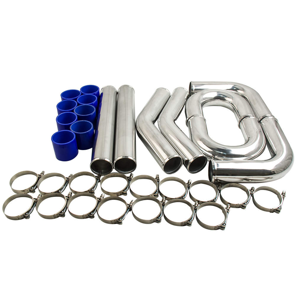 3 INCH 76mm Aluminum Universal Intercooler Turbo Piping pipe and Hose Kits