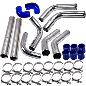 2.5'' Universal 8PCS Turbocharger Front Intercooler Pipe Silicone Hose T-Clamp