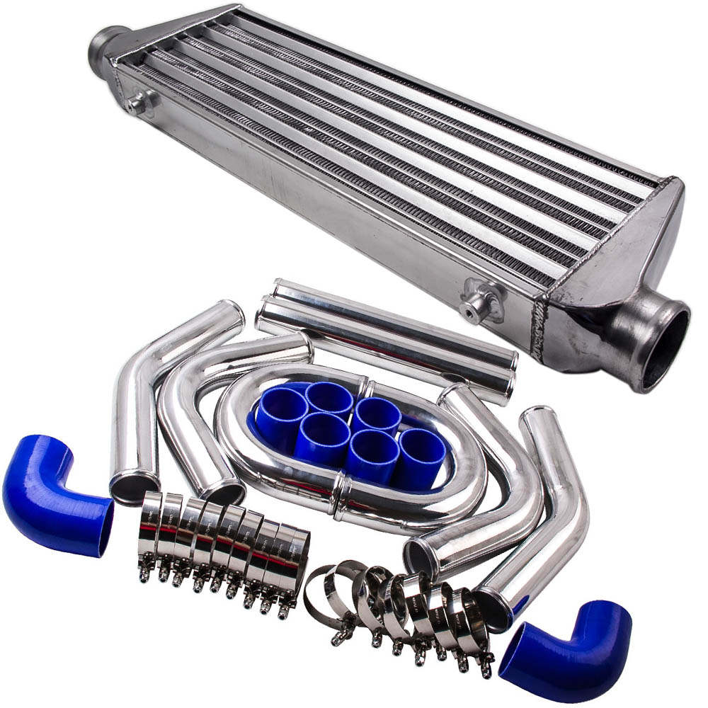 Tube and Fin Universal Intercooler 2.5 64mm Turbo Piping Pipe Kit For Audi