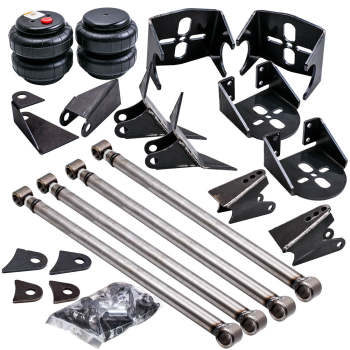 Weld-On Triangulated 4 Link Kit Brackets 2500 Bags Air Ride Suspension 2.75 axle