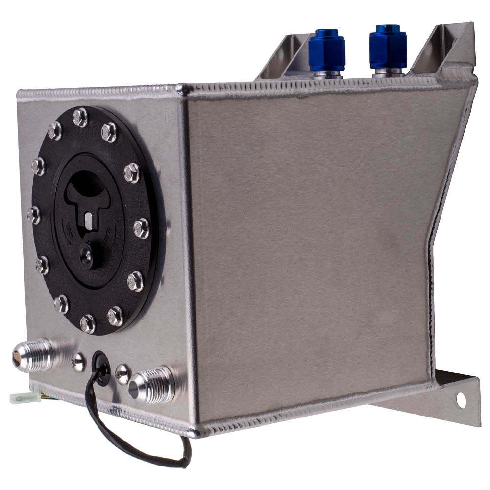 Universal 2.5 Gallon 10L Fuel Cell Tank Lightweight Aluminum with fuel sender