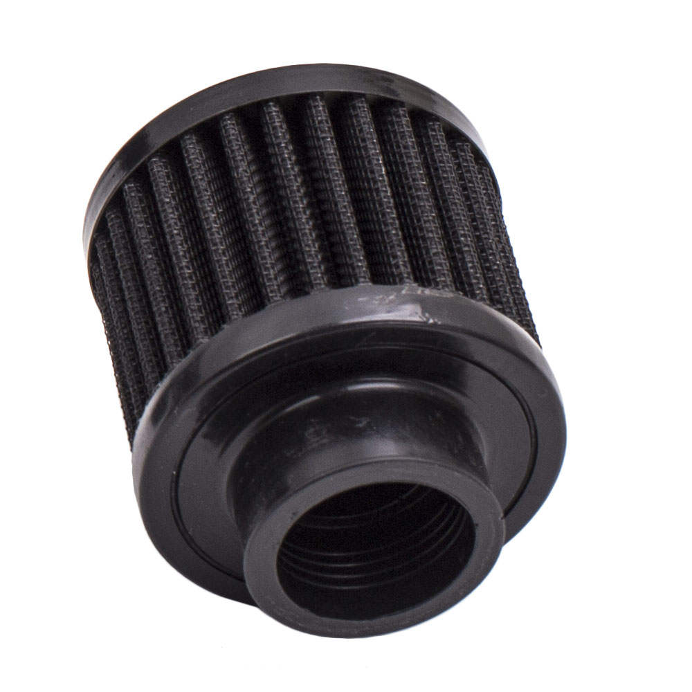 AN10 750ml Baffled Engine Oil Catch Breather Can with Filter  3M Hose Kit Black