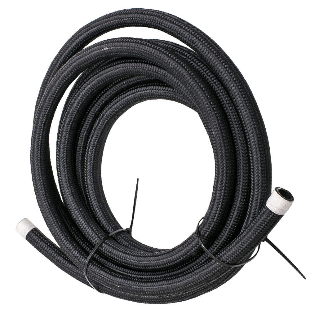 AN10 -10AN Fitting Stainless Steel Nylon Braided Oil Fuel Hose Line Kit 16FT