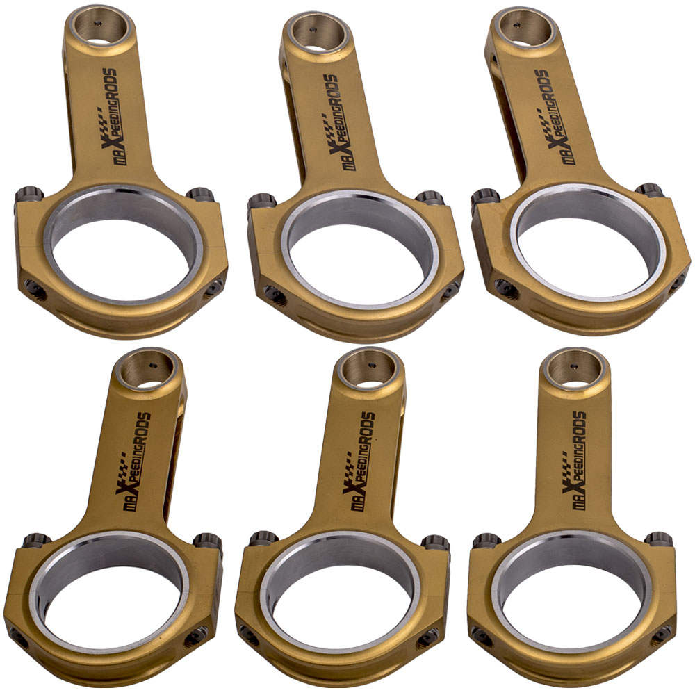 H-Beam Titanizing Connecting Rods Rod for Porsche 993 996 GT2 Turbo ARP2000 Bolt