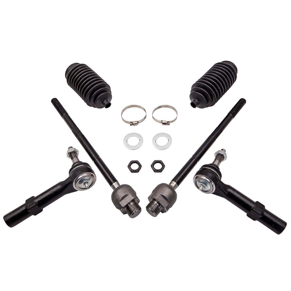 6 pcs Inner Outer Tie Rod Kit For Cadillac Escalade 2007-2013