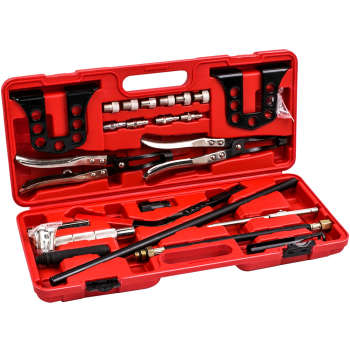 Cylinder Head Service Tool Kit For Valve Springs Guides Bushes Stem Seal remover