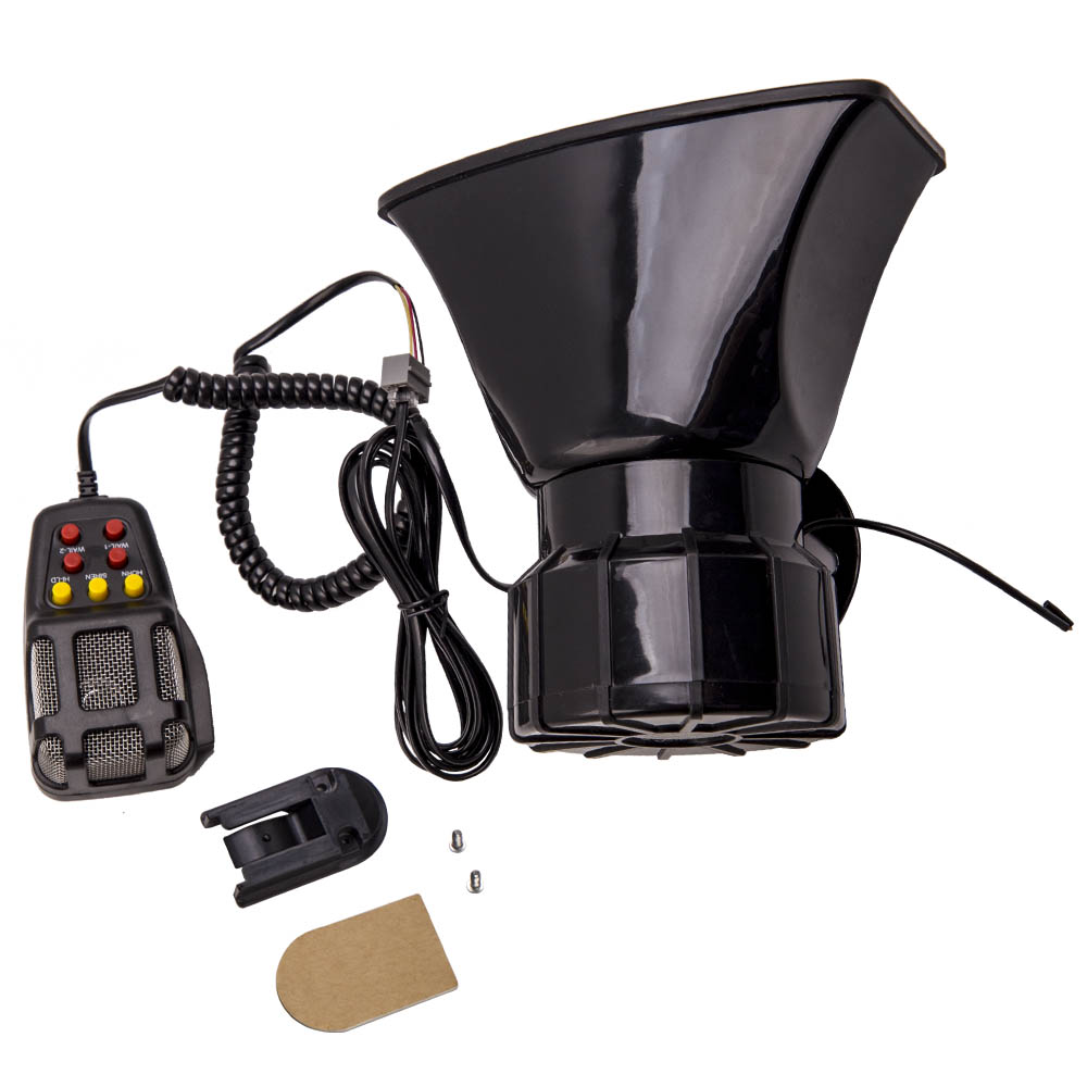 100W 12V 7 Sound Loud For Car Alarm Police Fire Horn Siren PA Speaker MIC System