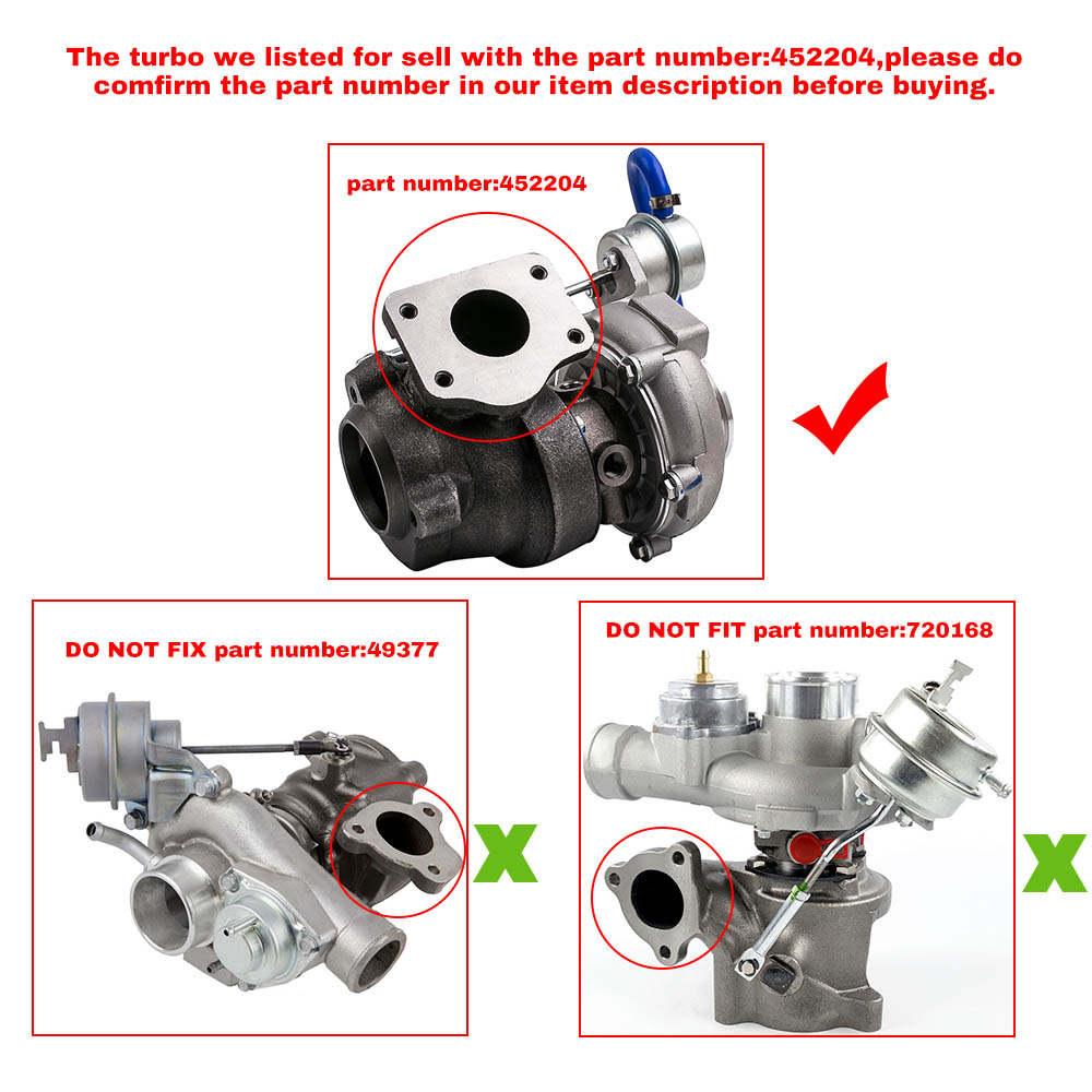Compatible para Saab 9-3 9-5 2.0 T 2.3 T B205E B235E GT1752 Turbolader Turbocompresor