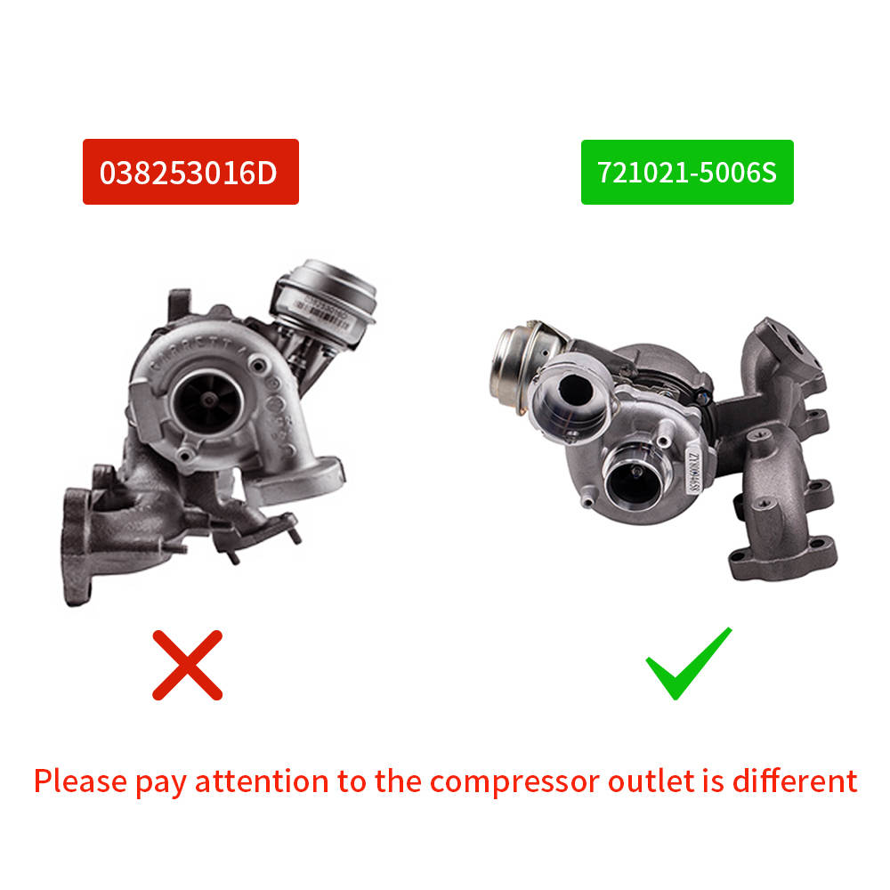 Turbolader compatible para AUDI VW SEAT 1.9TDI 110kW 150PS ARL 721021-5006S 038253016DX