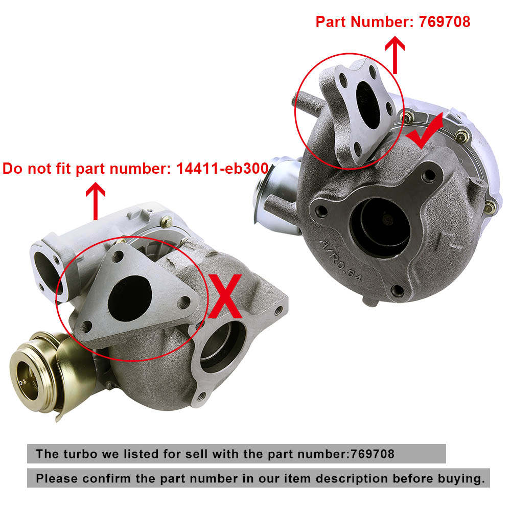 Turbo Turbocompresseur Pour Nissan Navara D40 Pathfinder R51 2.5L GT2056V Neuf