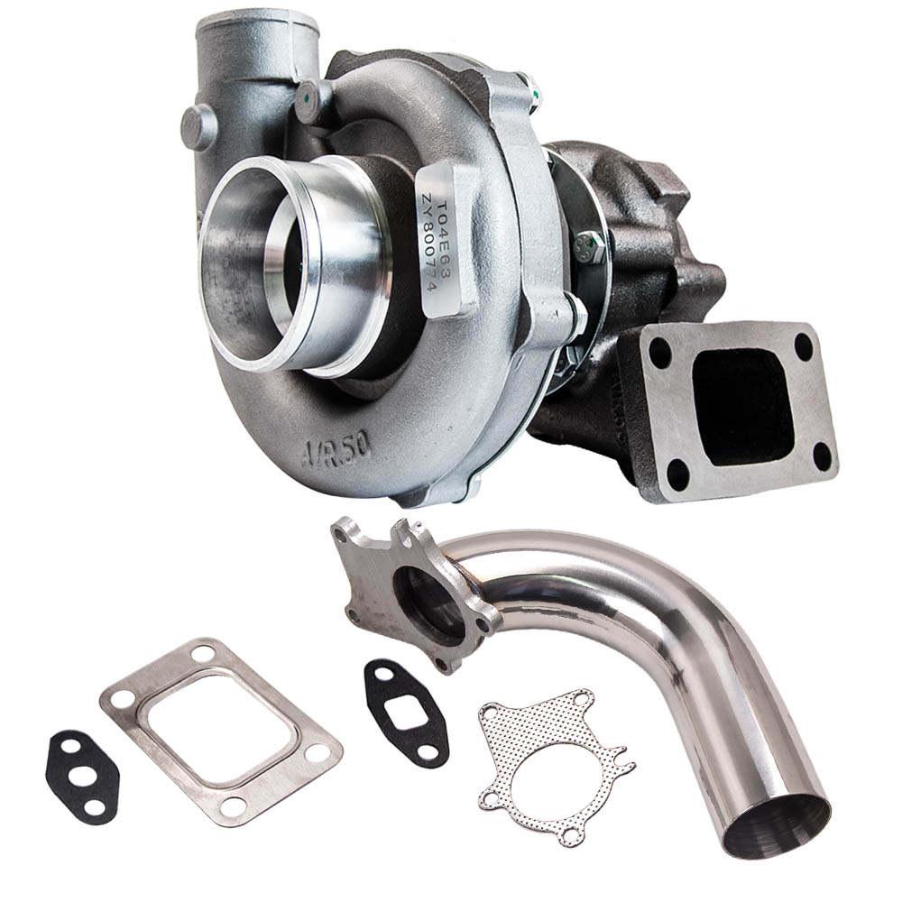T04E T3/T4 .63A/R 57 Trim Universal Turbocharger + Downpipe 2.5