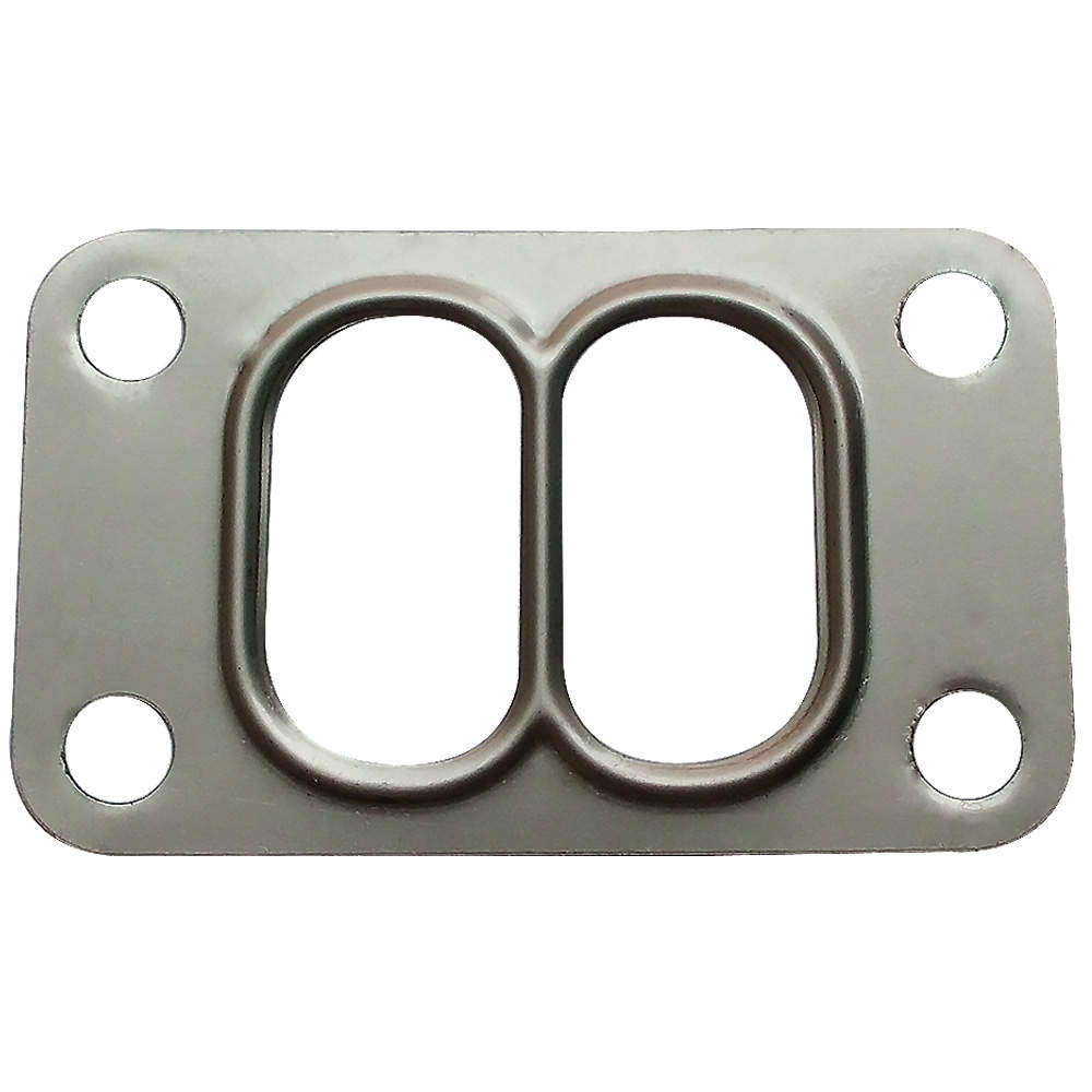 For High Performance Universal T3 Turbo Flange Twin Scroll Entry Divided Pressed Exhaust Manifold Gasket