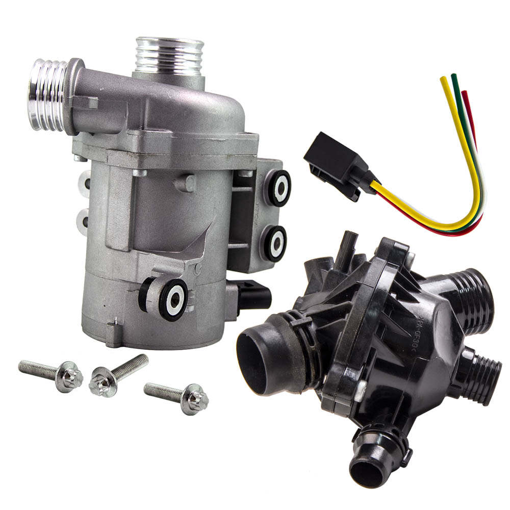 Electric Engine Water Pump With Thermostat Fit For BMW X3 X5 328I -128i 528i