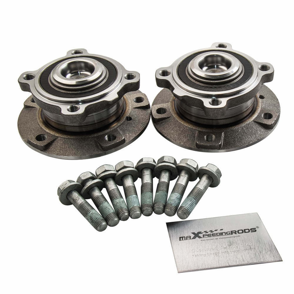 2X WHEEL BEARING KIT WITH HUB FRONT Front Axle Right+Left For BMW 5 SERIES E60