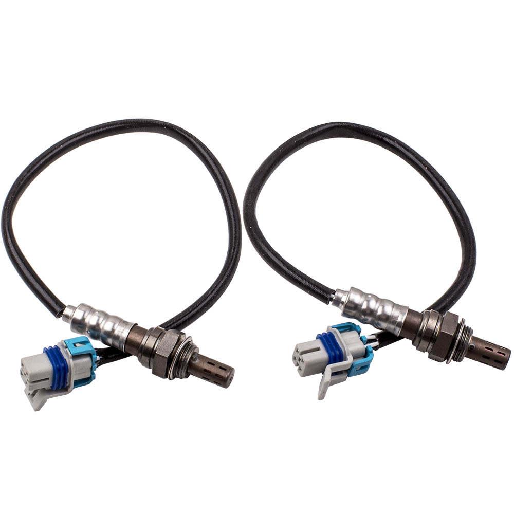 Upstream Downstream 4x Sensor de oxígeno compatible para GMC Yukon compatible para Chevrolet Tahoe 12573005