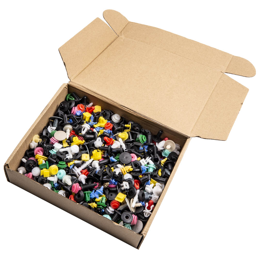 1000PCS Colorful Car DoorBumper Fenders Rivet Retainer Push Pin Clips