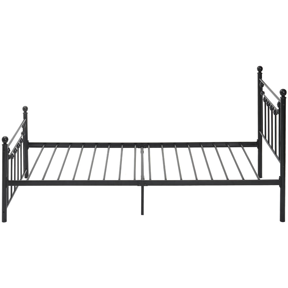 Single Bed Frame Metal Bed Base Platform with Headboard and Footboard storage Victorian Style