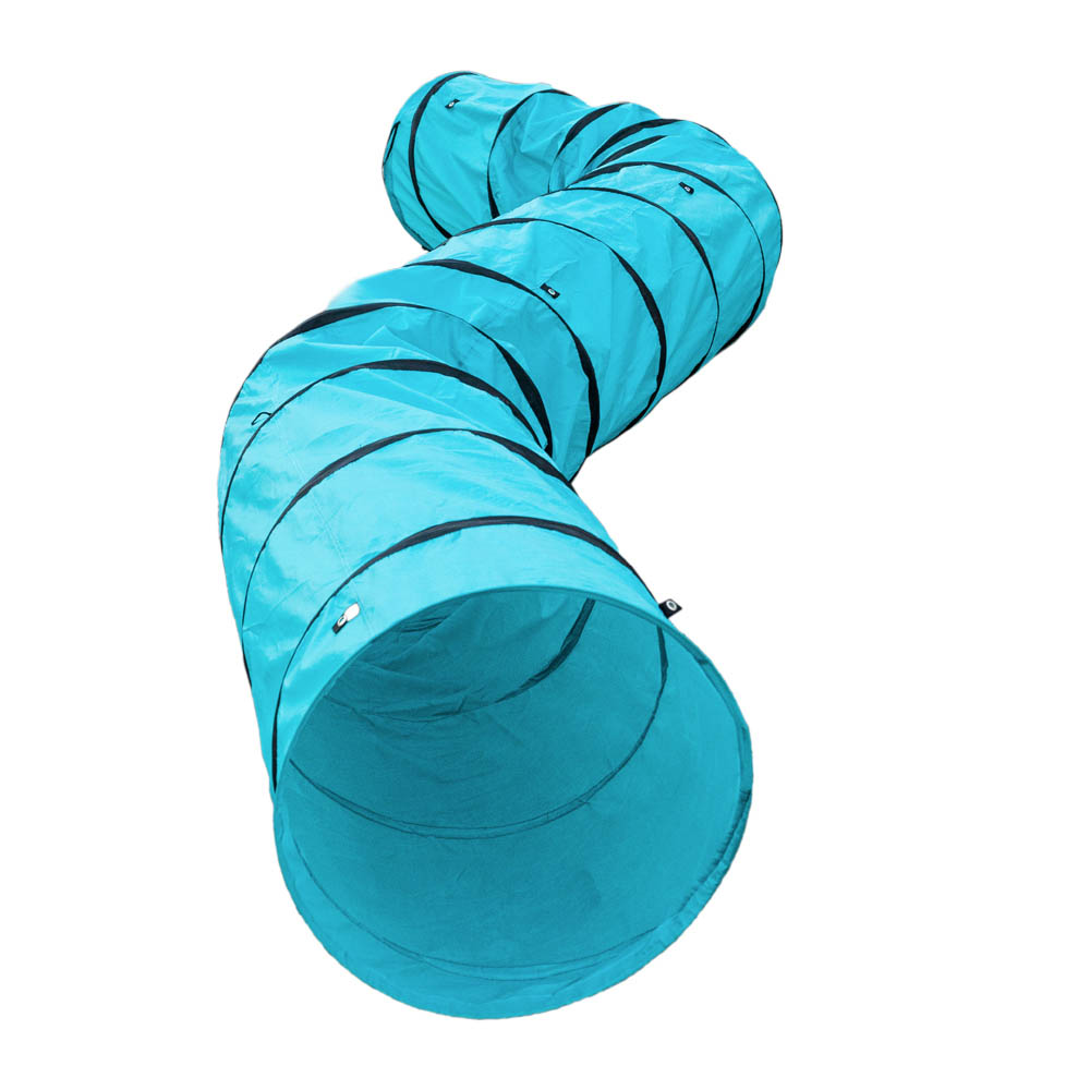 Agility Dog Training Open Tunnel Pet Play Outdoor Obedience Exercise Equipment Blue