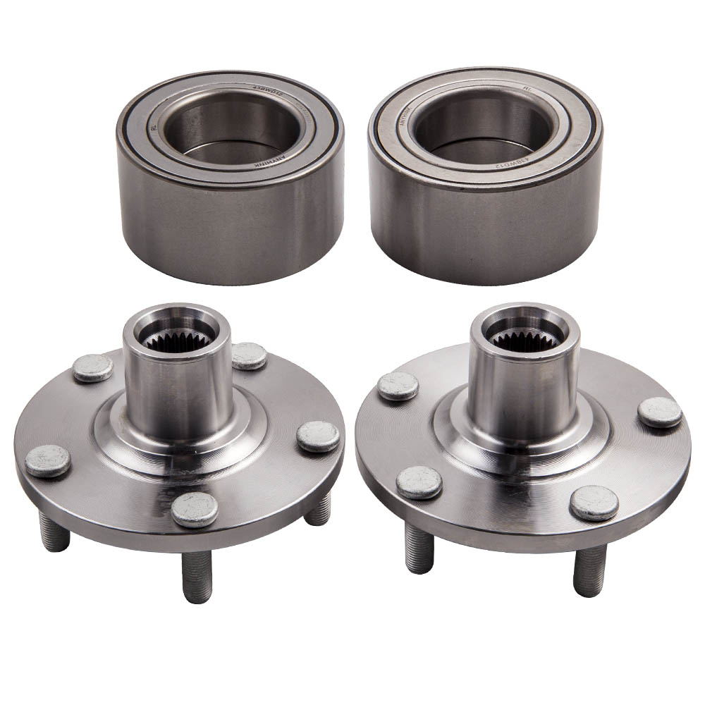 1 Pair Front Wheel Hub and Bearing Kit For Nissan Altima 25L only 2002 2006
