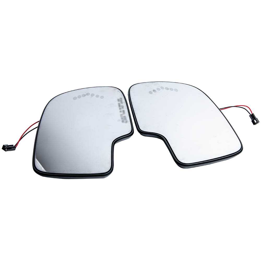 1 Pair Left and Right Mirror Glass Heated w Turn Signal for Chevy GMC Cadillac